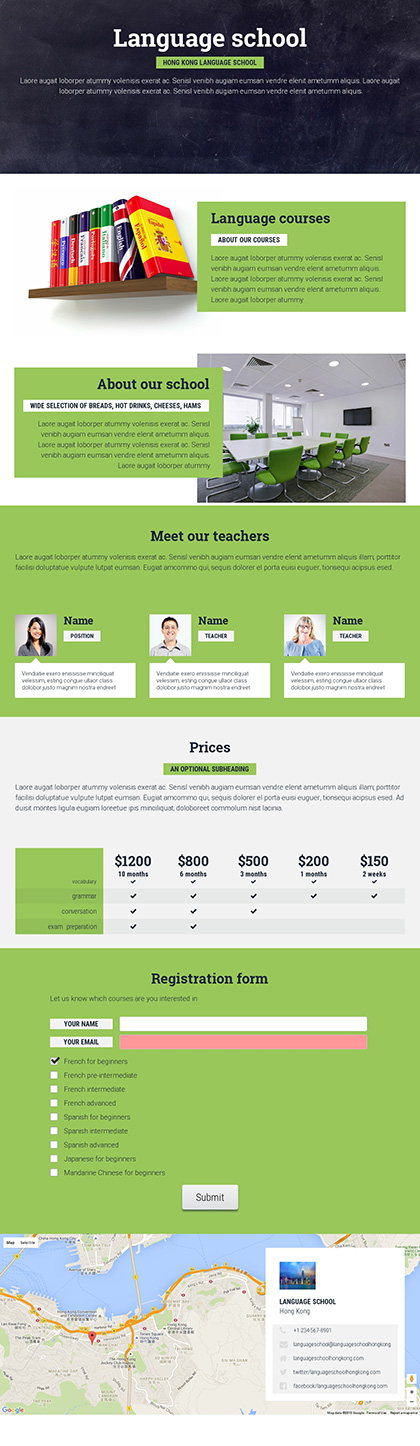 image preview of business proposal 'Language school sample'